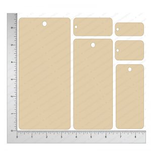 Chipzeb - Simple Tags - designer chipboard laser cut embellishment by Mudra