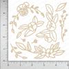 Chipzeb - Spring Floral - designer chipboard laser cut embellishment by Mudra