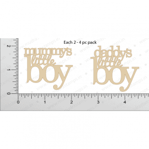Chipzeb - Little Boy - designer chipboard laser cut embellishment by Mudra