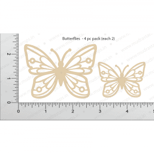 Chipzeb - Butterflies - designer chipboard laser cut embellishment by Mudra