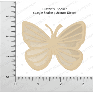 Chipzeb - Butterfly Shaker - designer chipboard laser cut embellishment by Mudra