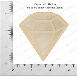 Chipzeb - Diamond Shaker - designer chipboard laser cut embellishment by Mudra