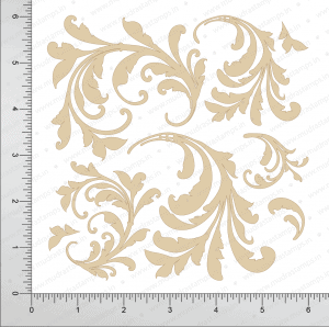 Chipzeb - Fancy Flourish - designer chipboard laser cut embellishment by Mudra