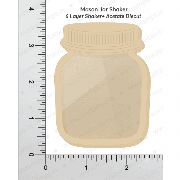 Chipzeb - Mason Jar Shaker - designer chipboard laser cut embellishment by Mudra