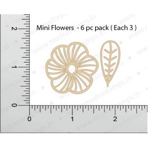 Chipzeb - Mini Flowers - designer chipboard laser cut embellishment by Mudra