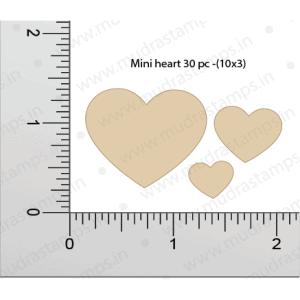 Chipzeb - Mini Hearts - designer chipboard laser cut embellishment by Mudra