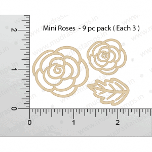 Chipzeb - Mini Roses - designer chipboard laser cut embellishment by Mudra