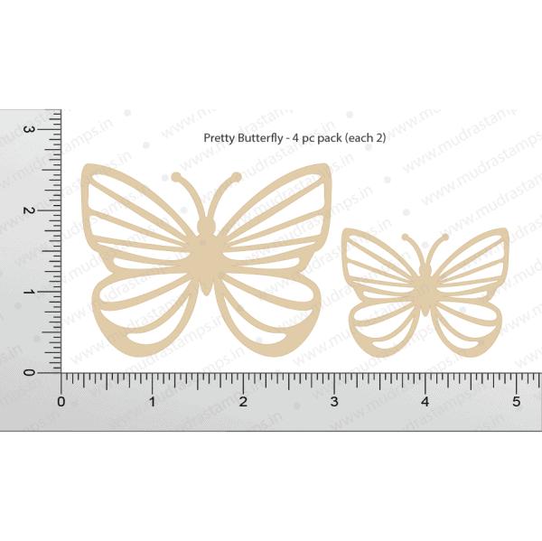 Chipzeb - Pretty Butterfly - designer chipboard laser cut embellishment by Mudra