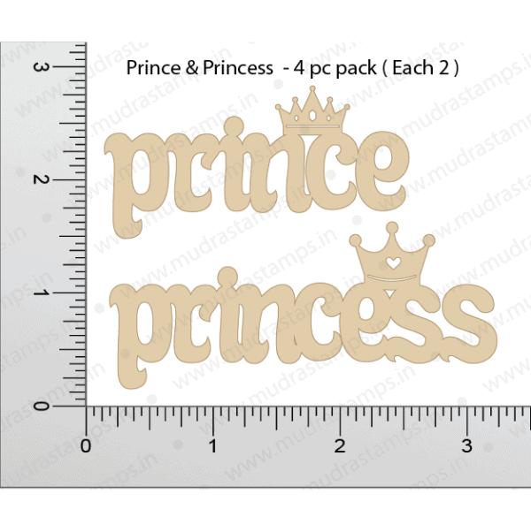 Chipzeb - Prince & Princess - designer chipboard laser cut embellishment by Mudra