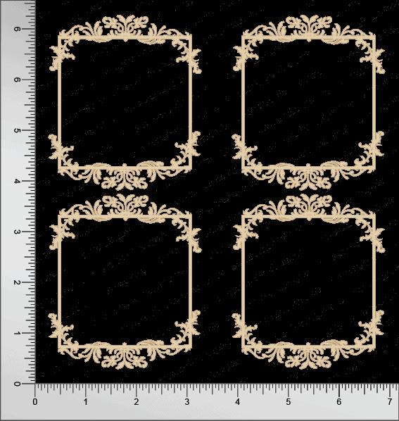 Chipzeb - Victorian Frame - designer chipboard laser cut embellishment by Mudra