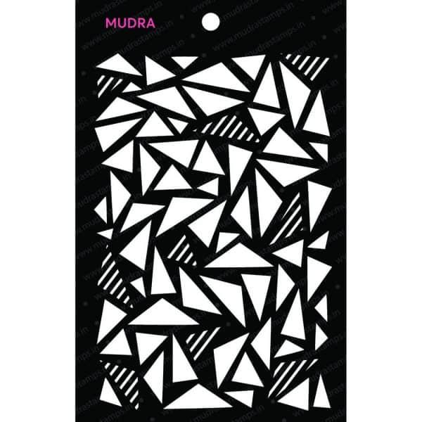 Craft Stencils - Geometric Stories 6x4 - Mudra