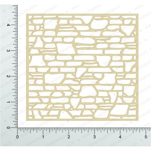 Chipzeb - Bricks - designer chipboard laser cut embellishment by Mudra