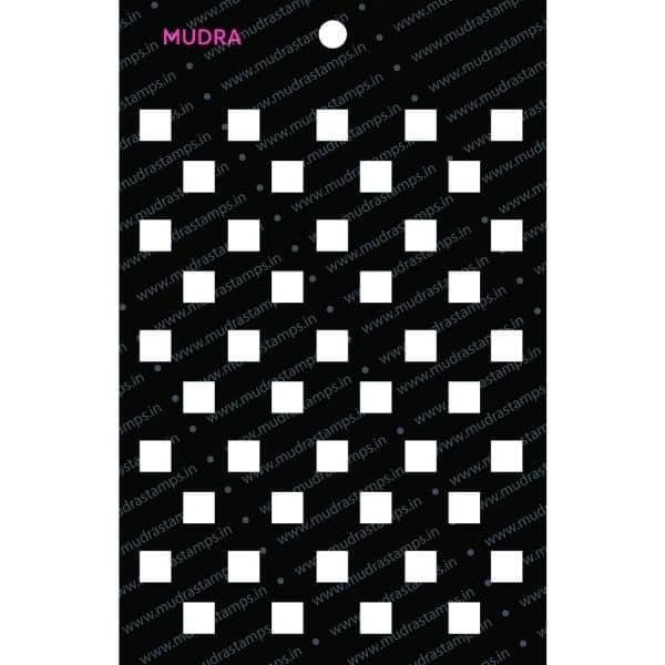Craft Stencils - Checkers 6x4 - Mudra
