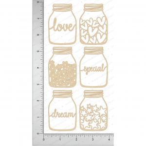 Chipzeb - Dream Jar - designer chipboard laser cut embellishment by Mudra