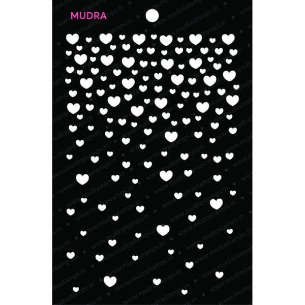 Craft Stencils - Falling Heart 6x4 - Mudra