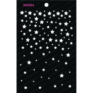 Craft Stencils - Falling Stars 6x4 - Mudra