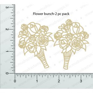 Chipzeb - Flower Bunch - designer chipboard laser cut embellishment by Mudra