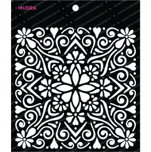 Craft Stencils - Indo Tile 6x6 - Mudra