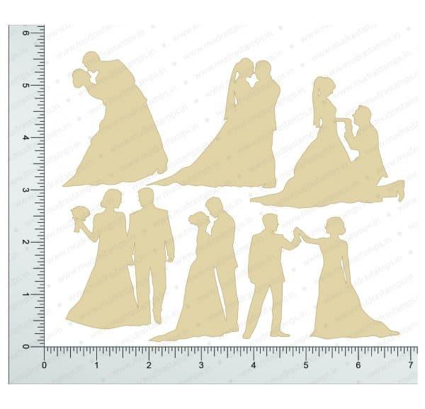 Chipzeb - Wedding Couple - designer chipboard laser cut embellishment by Mudra