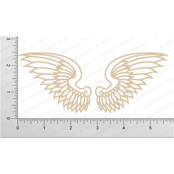 Chipzeb - Wings - designer chipboard laser cut embellishment by Mudra