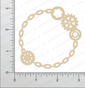 Chipzeb - Geary Circle Frame - designer chipboard laser cut embellishment by Mudra