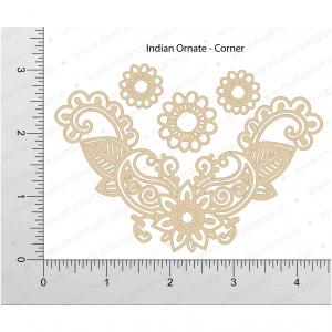 Chipzeb - Indian Ornate Corner - designer chipboard laser cut embellishment by Mudra