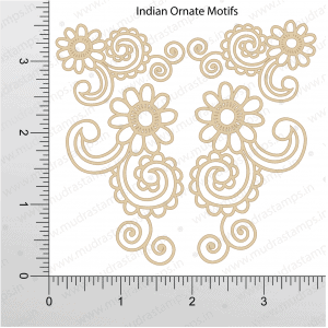 Chipzeb - Indian Ornate Motifs - designer chipboard laser cut embellishment by Mudra