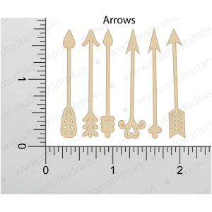 Chipzeb - Arrows - designer chipboard laser cut embellishment by Mudra