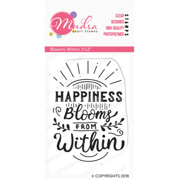 blooms within design photopolymer stamp for crafts, arts and DIY by Mudra