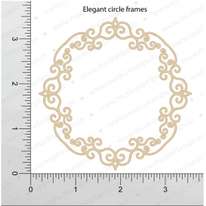 Chipzeb - Elegant Circle Frame - designer chipboard laser cut embellishment by Mudra