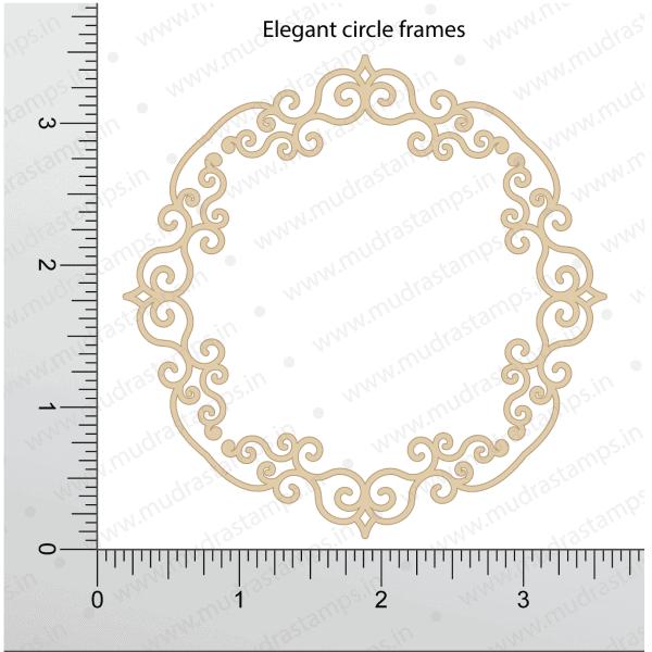 Chipzeb - Elegant Circle Frame - designer chipboard laser cut embellishment by Mudra