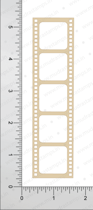 Chipzeb - Film Strip - designer chipboard laser cut embellishment by Mudra