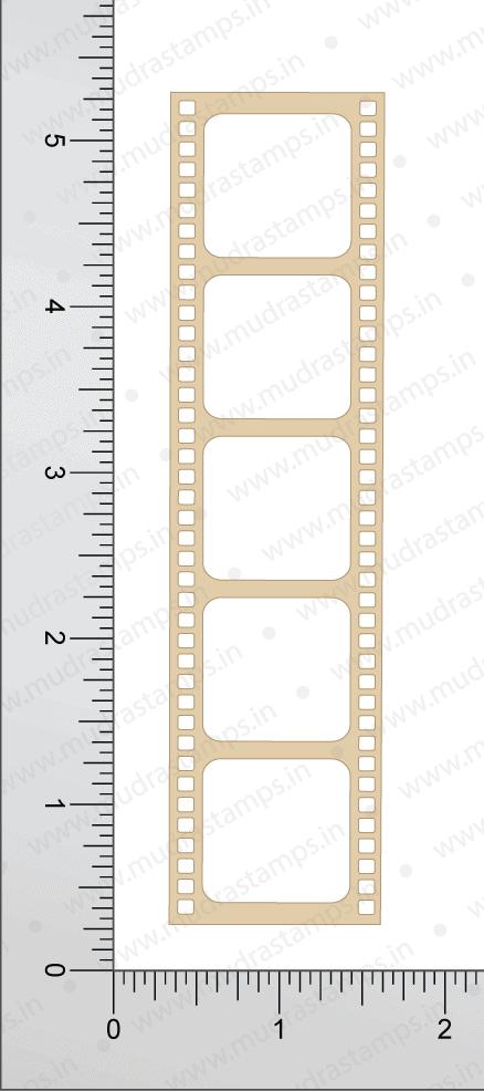 Chipzeb - Film Strip - designer chipboard laser cut embellishment by Mudra