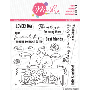 hello sunshine design photopolymer stamp for crafts, arts and DIY by Mudra