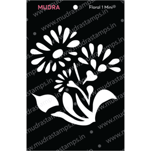 Craft Stencils - Floral Mini 1 3x4 - Mudra
