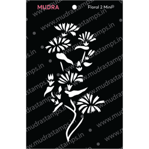Craft Stencils - Floral Mini 2 3x4 - Mudra