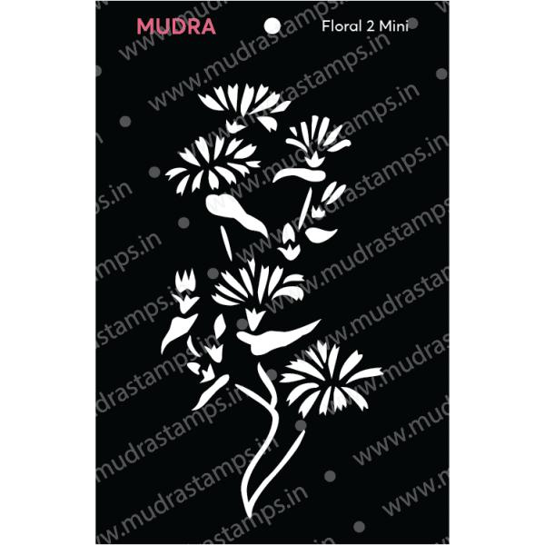 Craft Stencils - Floral Mini 2 3x4 - Mudra