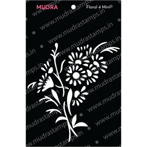 Craft Stencils - Floral Mini 4 3x4 - Mudra