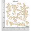 Chipzeb - Buds & Leaves - designer chipboard laser cut embellishment by Mudra