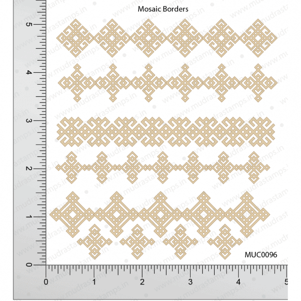 Chipzeb - Mosaic Borders - designer chipboard laser cut embellishment by Mudra