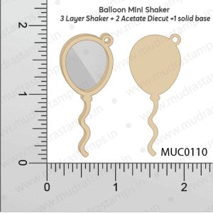 Chipzeb - Balloon Mini Shaker - designer chipboard laser cut embellishment by Mudra