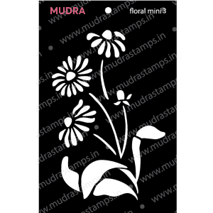 Craft Stencils - Floral Mini 3 3x4 - Mudra