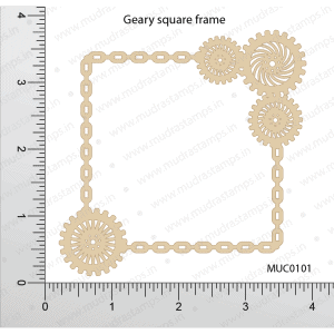 Chipzeb - Geary Square Frame - designer chipboard laser cut embellishment by Mudra