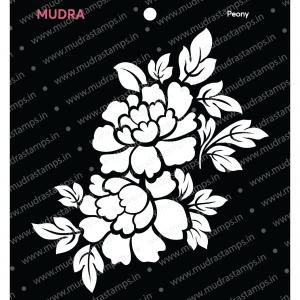 Craft Stencils - Peony 6x6 - Mudra