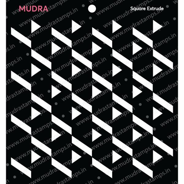 Craft Stencils - Square Extrude 6x6 - Mudra