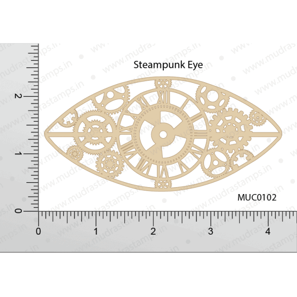 Chipzeb - Steampunk Eye - designer chipboard laser cut embellishment by Mudra