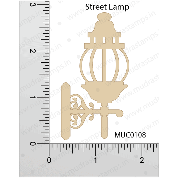 Chipzeb - Street Lamp - designer chipboard laser cut embellishment by Mudra