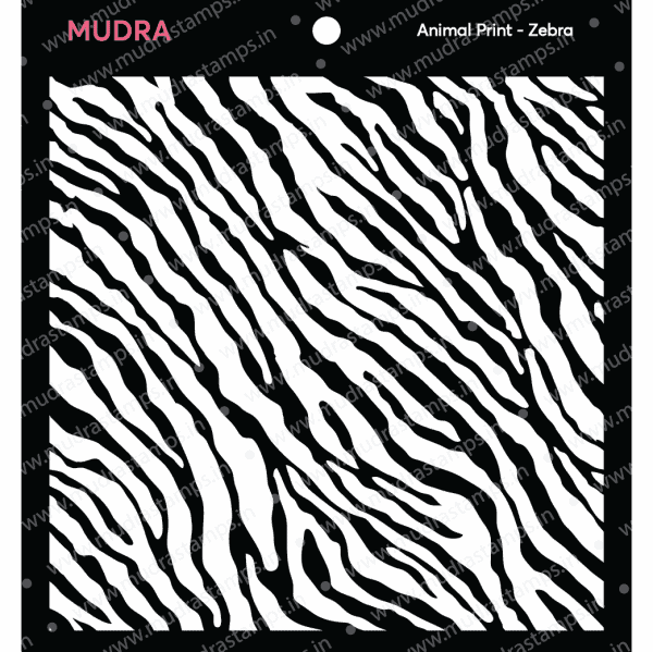 Craft Stencils - Zebra 6x6 - Mudra