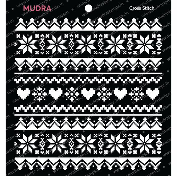 Craft Stencils - Cross Stich 6x6 - Mudra
