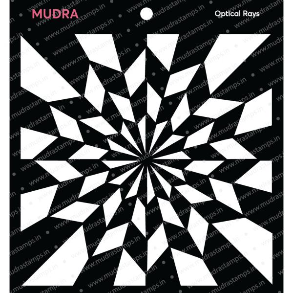 Craft Stencils - Optical Rays 6x6 - Mudra
